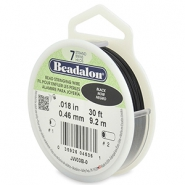 Beadalon filo infilaperle 7 fili diametro 0,46 mm nero