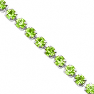 Catena strass verde lime-argento